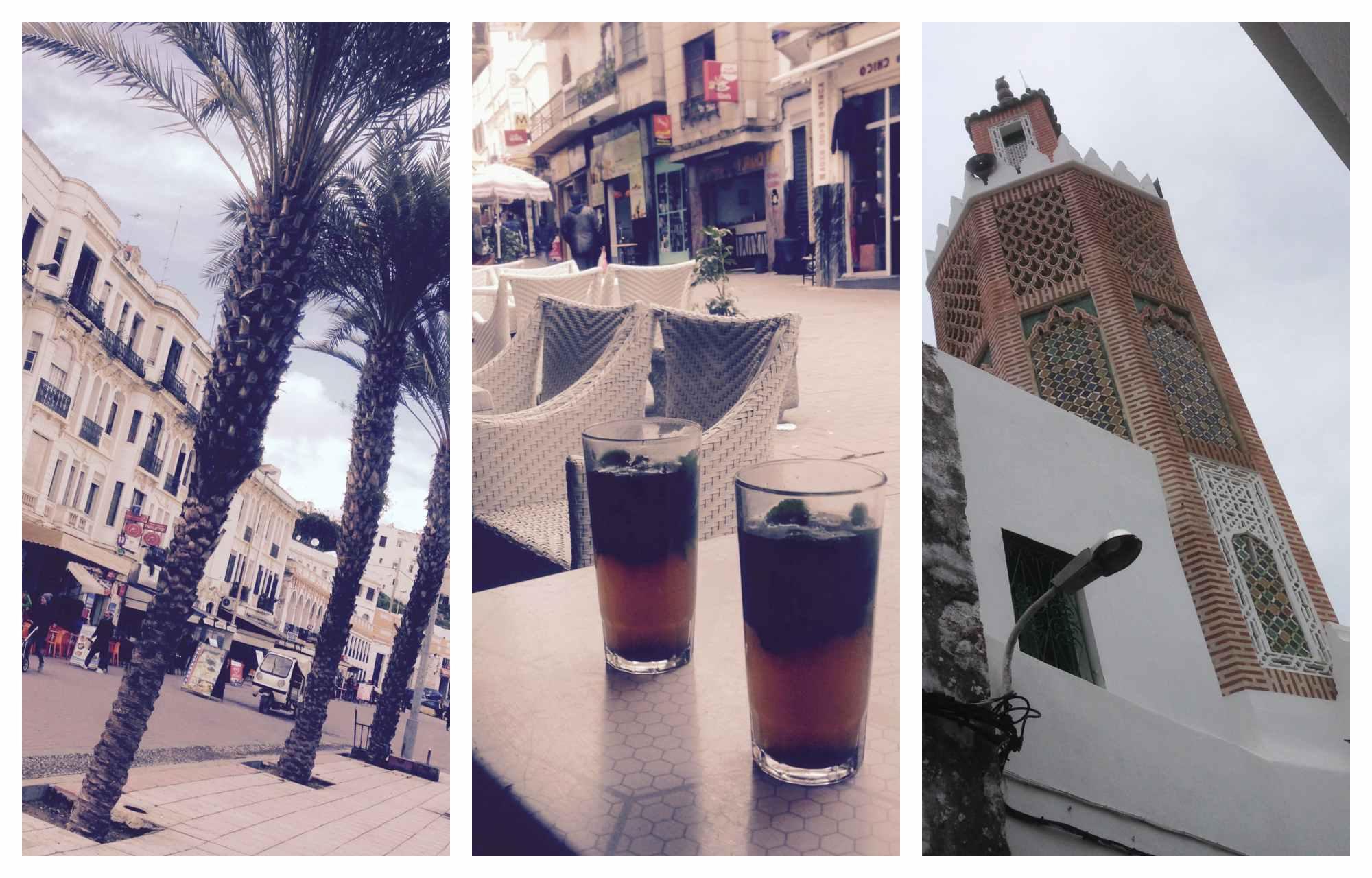 Collage von Bildern mit Eindrücken von Tanger