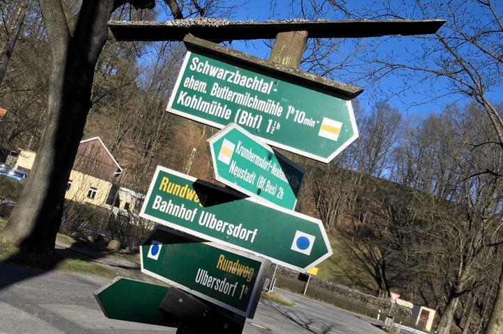 Landgasthaus Schwarzbachtal Wanderschild